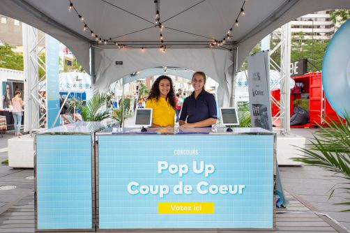 Cominar presents the Pop Up Coup de Cœur Contest at the Fashion and Design Festival
