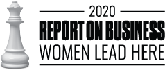 2020 Women Lead Here seal - Globe and Mail