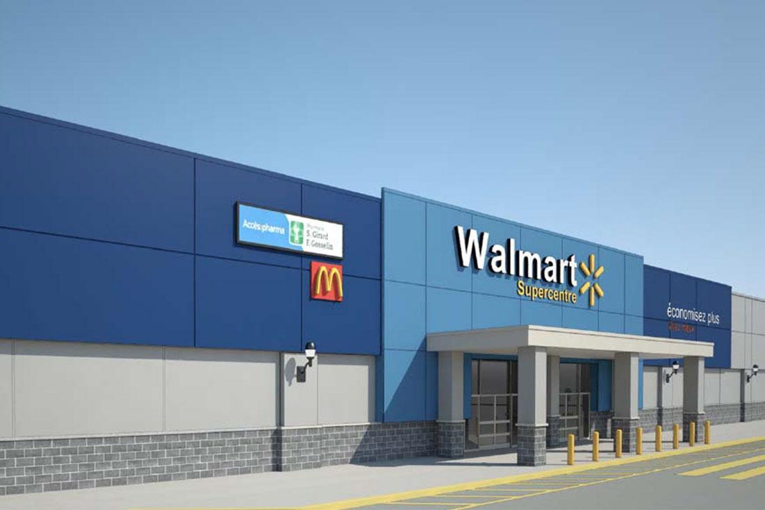 Rénovations majeures pour le Walmart des Galeries Rive Nord